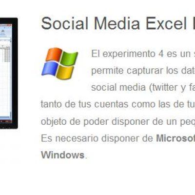 Skoltilab: exporta los datos de Facebook y Twitter a un Excel