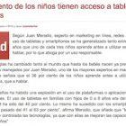 """Artículo: """"El 75% de los niños tienen acceso a tablets y smartphones"""" - Juan Merodio"""