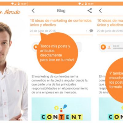 """El Blog de Juan Merodio"": Ya disponible en Apple Store y Google Play"