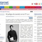 """Artículo: """"El Peligro de Mentir en tu CV 2.0"""" - Juan Merodio"""
