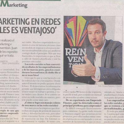 "Entrevista: ""El Marketing en Redes Sociales es ventajoso"""