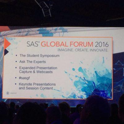 SAS Global Forum 2016: La analítica en el centro de la empresa
