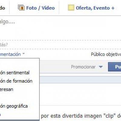 Facebook permite segmentar en las actualizaciones de páginas de Fans