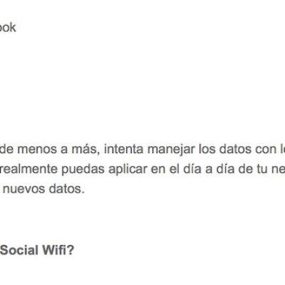 """Artículo: """"Social Wifi, convirtiendo los datos en un valor para la empresa"""""""
