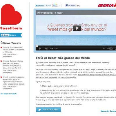 Iberia crea un concurso en Twitter para incrementar notoriedad