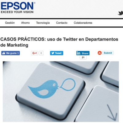 "Artículo: ""CASOS PRÁCTICOS: uso de Twitter en Departamentos de Marketing"""