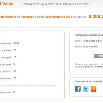 Calcula el valor publicitario de tu marca en Facebook