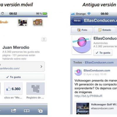 Facebook Actualizará el Diseño de las fanpages en sus Aps móviles
