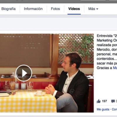Videos destacados y listas de reproducción en tu página de fans de Facebook