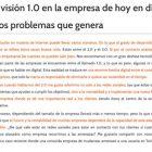 """Artículo: """"La visión 1.0 en la empresa de hoy en día"""" - Juan Merodio"""