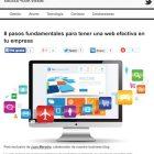 """Artículo: """"8 pasos fundamentales para tener una web efectiva en tu empresa"""" - Juan Merodio"""