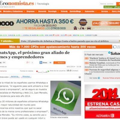 """Artículo: """"WhatsApp, el próximo aliado de PYMES y Emprendedores"""""""
