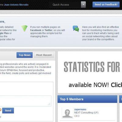 ZoomSphere: datos estadísticos de Facebook, Twitter y Google+