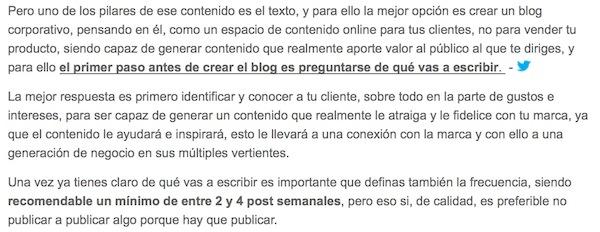 """Artículo: """"Por qué es necesario tener un blog corporativo"""" - Juan Merodio"""