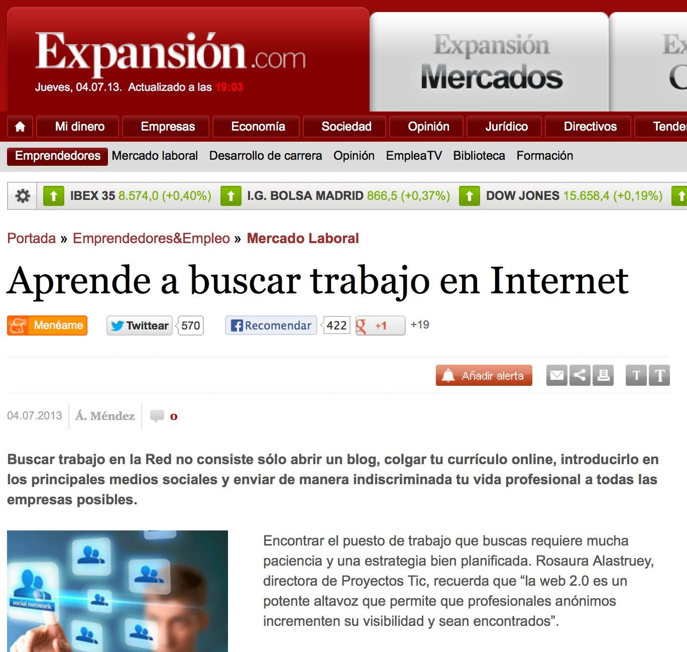 Articulo Aprende A Buscar Trabajo En Internet Juan Merodio