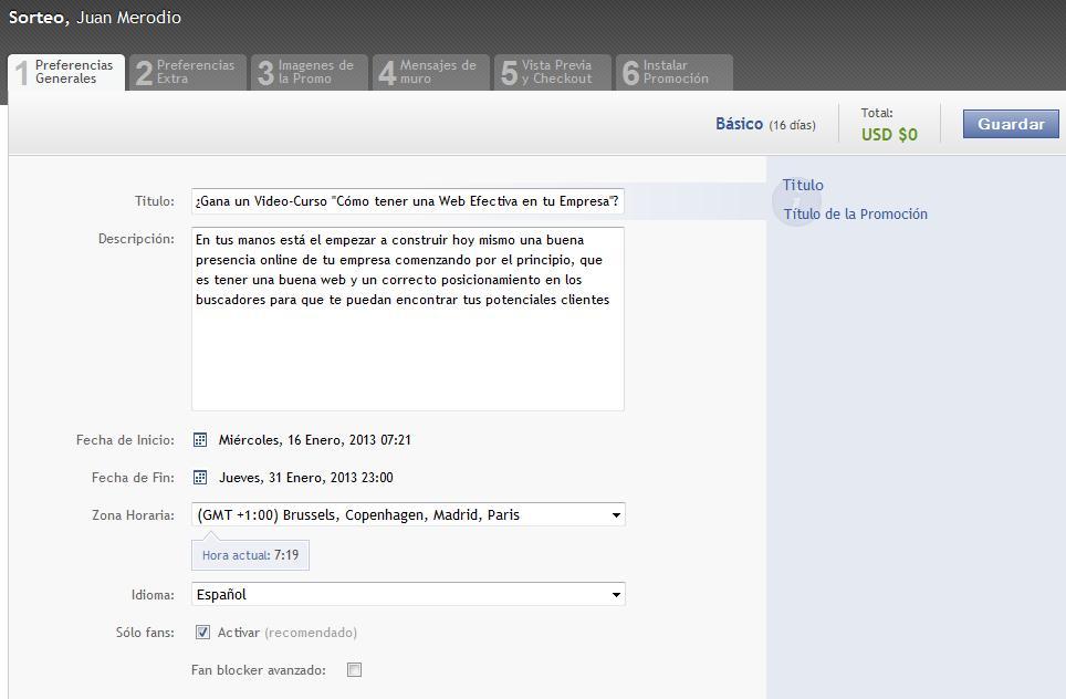 The Fan Machine: app para realizar promociones en la página de fans - Juan Merodio