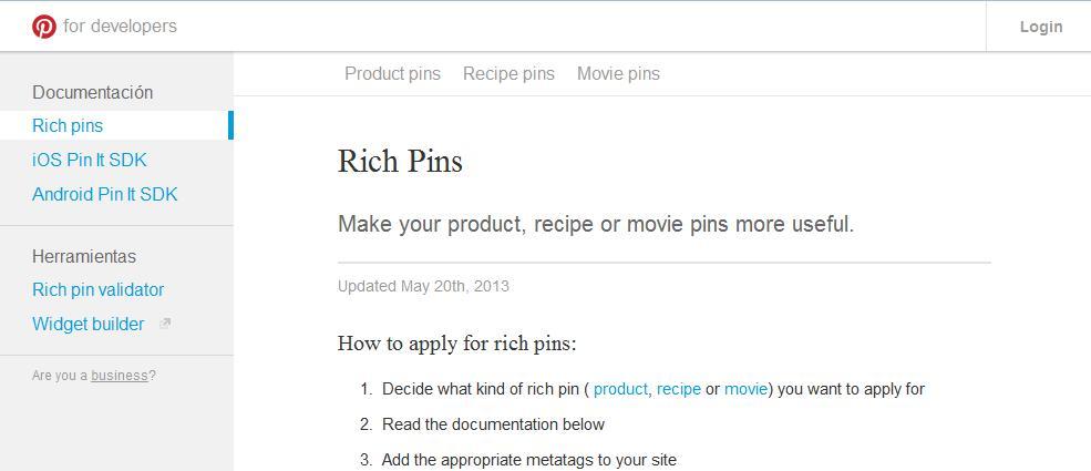 Rich Pins: qué son y cómo usar los pins enriquecidos de Pinterest - Juan Merodio