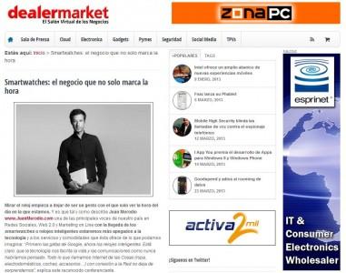"""Artículo: """"Smartwatches: El Negocio Que No Solo Marca la Hora"""" - Juan Merodio"""