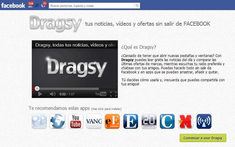 Dragsy: app para personalizar en Facebook tus fuentes de noticias - Juan Merodio