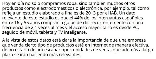 Artículo: «Ecommerce para satisfacer realmente al usuario» - Juan Merodio
