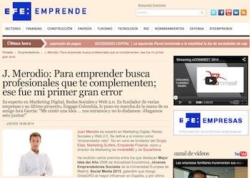 """Entrevista: """"Para emprender busca profesionales que te complementen"""" - Juan Merodio"""