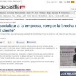"""Artículo en El Norte de Castilla """"""""Hay que Socializar a la Empresa, Romper la Brecha que la Separa del Cliente"""""""""""