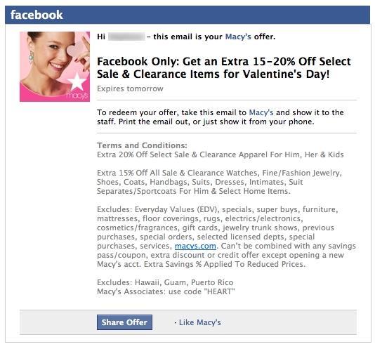 Facebook prueba un Nuevo Sistema de Cupones en las Páginas de Fans - Juan Merodio
