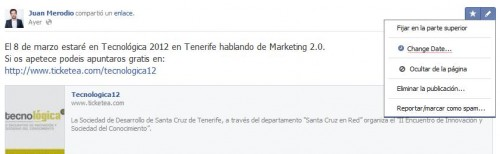 Las Páginas de Fans de Facebook Ya disponen de nuevas funciones - Juan Merodio