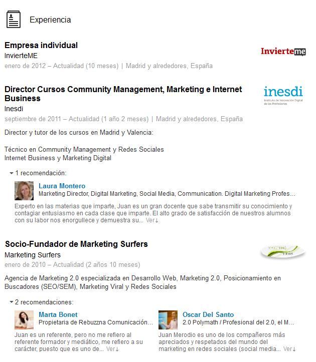 LinkedIn Actualiza y Mejora el Diseño de los Perfiles Personales - Juan Merodio