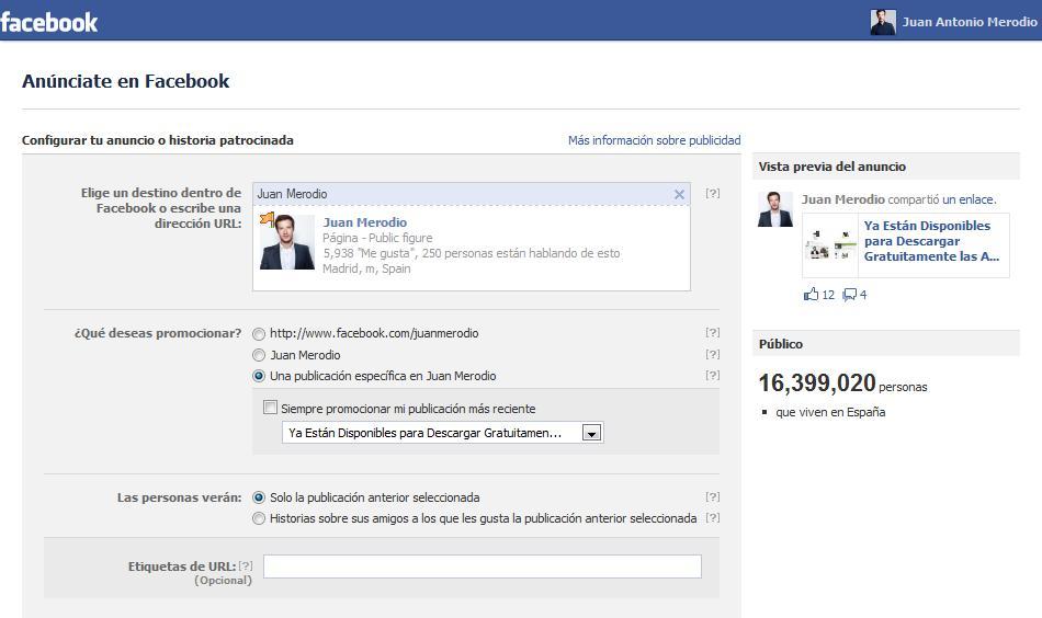 Facebook cambia su plataforma de gestión de anuncios patrocinados - Juan Merodio