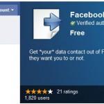 Herramienta para exportar los datos de tus amigos en Facebook