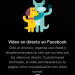 Facebook Live, video en streaming en las páginas de fans
