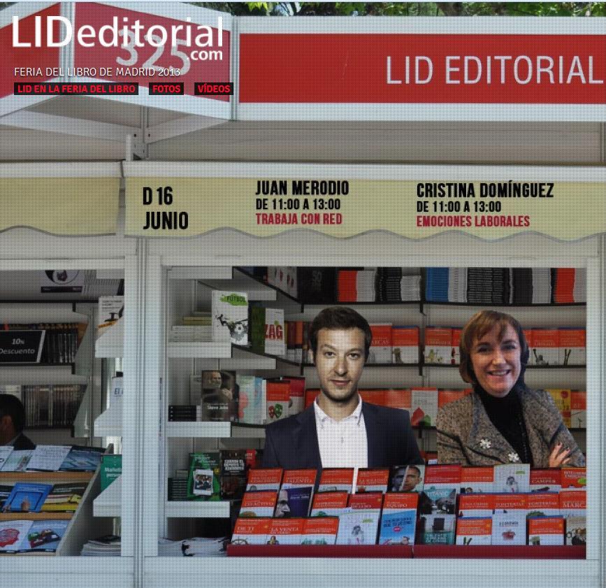 """Firma de libros """"Trabaja con Red"""" en la Feria del Libro de Madrid - Juan Merodio"""