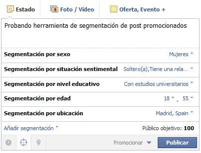 Facebook permite segmentar en las actualizaciones de páginas de Fans - Juan Merodio