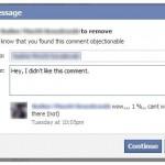 Facebook Testea Una Herramienta para Informar a los Fans de Por Qué se ha Borrado su Comentario