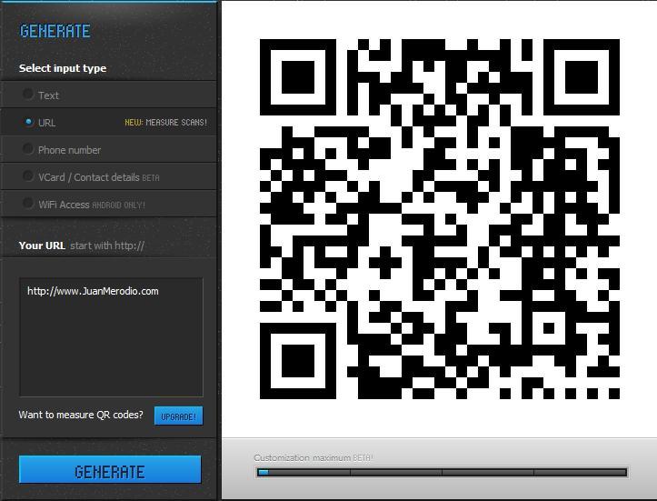 QRHacker, crea códigos QR personalizados y mide su efectividad - Juan Merodio