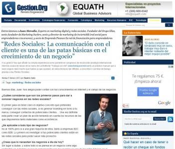 """Entrevista: """"Redes Sociales, la comunicación con el cliente es básica"""" - Juan Merodio"""