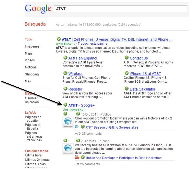 La Páginas de Google+ aparecen en los Primeros Resultados de Búsqueda - Juan Merodio