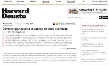 Artículo: «Cómo enfocar nuestra estrategia de video marketing» - Juan Merodio