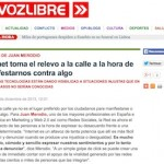 """Entrevista: """"Internet Toma el Relevo a la Calle a la Hora de Manifestarnos Contra Algo"""""""
