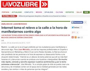 Entrevista: Internet Toma el Relevo a la Calle para Manifestarnos - Juan Merodio