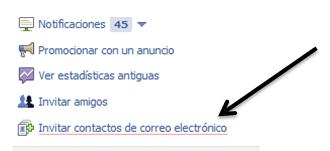 Facebook permite invitar a Contactos por correo electrónico - Juan Merodio