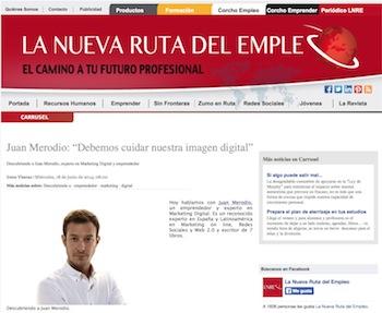 """Entrevista: """"Debemos cuidar nuestra imagen digital"""" - Juan Merodio"""