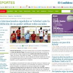 """Artículo en El Confidencial: """"Los internacionales españoles se 'rebelan' ante la prohibición de no poder utilizar Redes Sociales"""""""