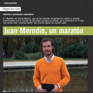 """Entrevista: """"Juan Merodio, un Maratón"""" - Juan Merodio"""