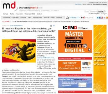 """Artículo: """"El Rescate en RRSS: ¿un diálogo del que tomar nota? - Juan Merodio"""