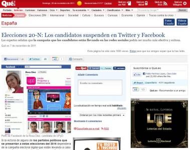 """Noticia: """"Los políticos españoles suspenden en 2.0 y Redes Sociales"""" - Juan Merodio"""