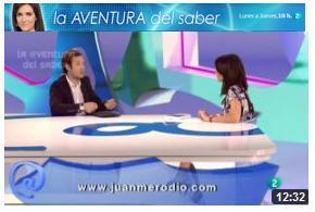"""Entrevista en """"La Aventura del Saber"""" de TVE2 presentando mi 4º Libro - Juan Merodio"""