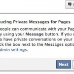 Facebook está probando un Nuevo Servicio de Mensajes Privados entre Páginas de Fans y Usuarios