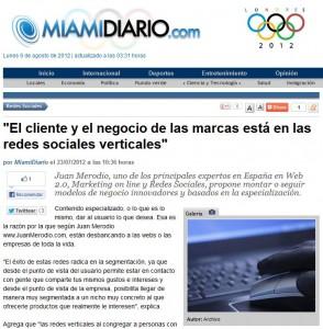 Artículo: cliente y negocio están en las redes sociales verticales - Juan Merodio